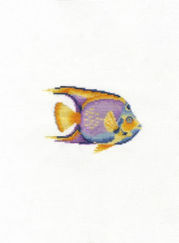 Tropical Fish Cross Stitch Kit with Hoop- BK1875